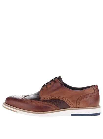 Pantofi brogues maro OJJU din piele
