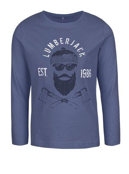 Bluză albastru închis name it Victor cu print pentru băieți