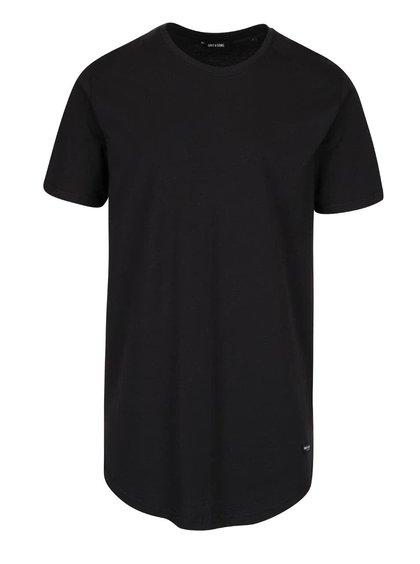 Tricou lung negru ONLY & SONS Super Long din bumbac