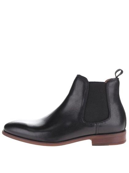 Černé pánské kožené chelsea boty ALDO Croaven