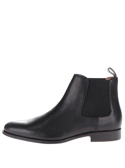 Čierne pánske kožené chelsea topánky ALDO Valbassa
