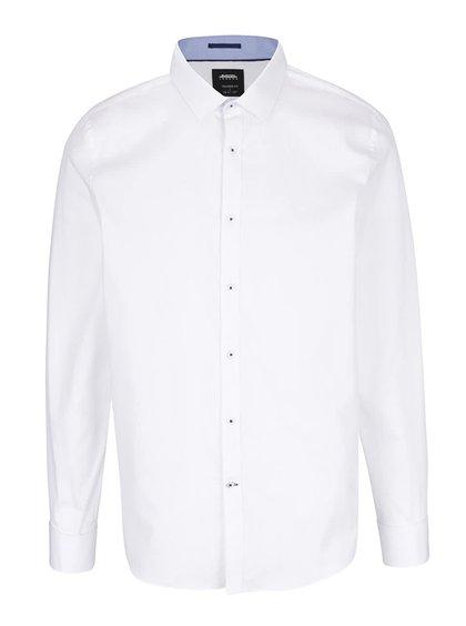 Bílá formální košile s jemným vzorem Burton Menswear London