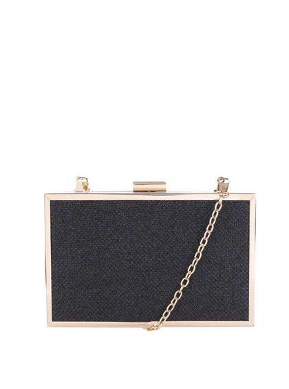 Černá crossbody kabelka s detaily ve zlaté barvě Pieces Dominique