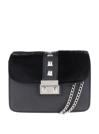 Čierna malá crossbody kabelka s cvočkami Pieces Diana