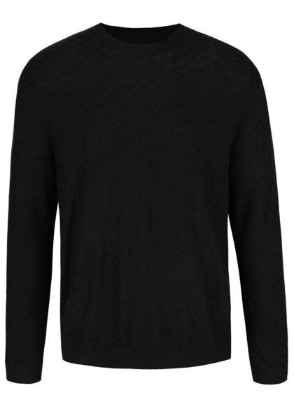 Pulover negru Burton Menswear London cu model discret