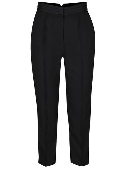 Černé kalhoty s vysokým pasem Miss Selfridge