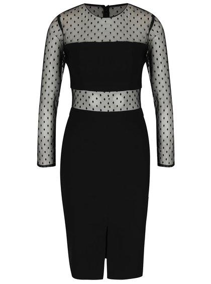 Černé šaty s puntíky Miss Selfridge
