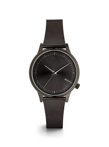 Černé dámské hodinky s černým ciferníkem Komono Estelle Royale