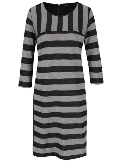 Sivé pruhované šaty Tanis b.young