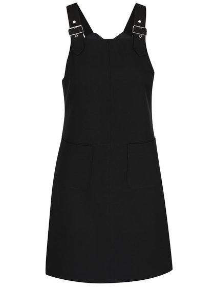 Čierne šaty na traky s vreckami Miss Selfridge