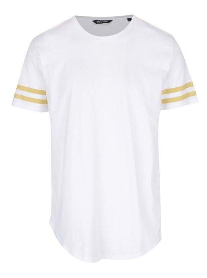 Bílé triko s pruhy a krátkými rukávy ONLY & SONS Matt
