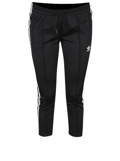 Černé dámské osminkové rovné tepláky adidas Originals