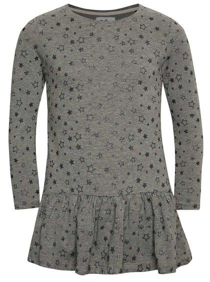Tmavě šedé holčičí šaty s dlouhým rukávem 5.10.15.
