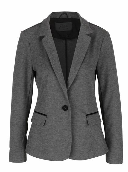 Tmavě šedé sako s kapsami Vero Moda Cassy