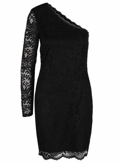 Černé krajkové šaty s odhaleným ramenem VERO MODA Celeb