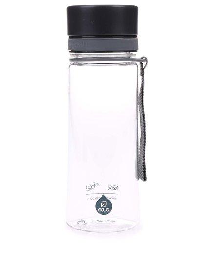 Plastová fľaša s čiernym uzáverom EQUA (400 ml)