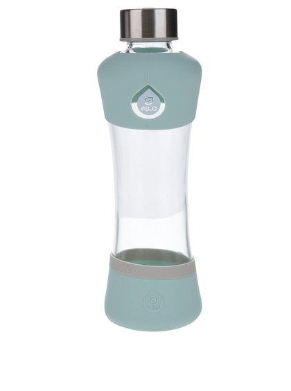 Skleněná láhev se světle zelenými detaily EQUA (550 ml)
