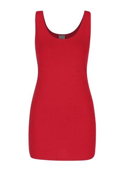 Ružovočervené dlhšie tielko Vero Moda Maxi
