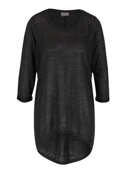 Tmavě šedé volné tričko s 3/4 rukávy Vero Moda Vita
