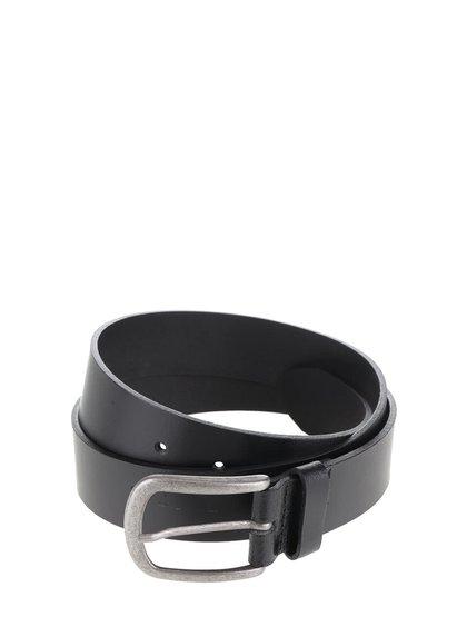 Černý kožený pásek Jack & Jones Ace