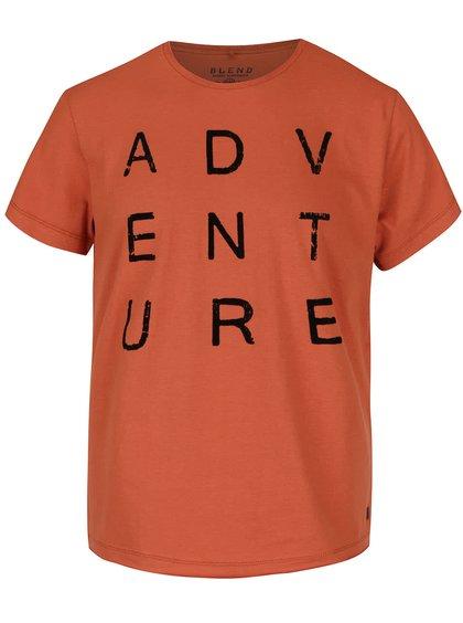 Oranžové triko s krátkým rukávem Blend