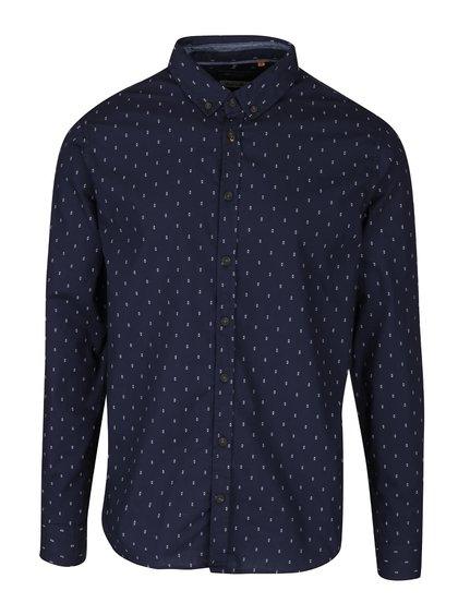 Tmavě modrá vzorovaná košile Blend