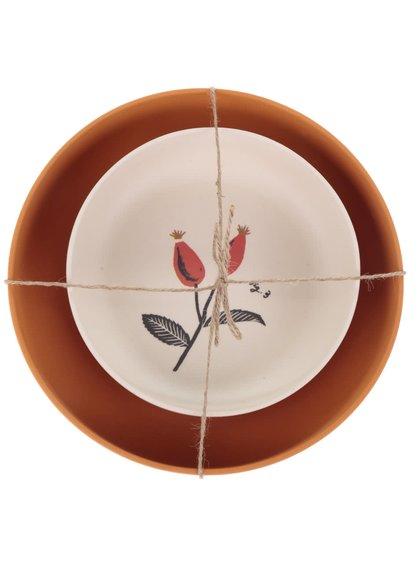 Sada bambusových misek Roseship Magpie