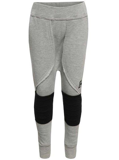Pantaloni gri melanj unisex 3FnkyKids cu detalii negre