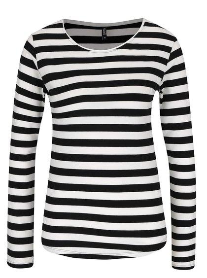 Černo-bílé pruhované tričko s dlouhým rukávem Haily´s Tina