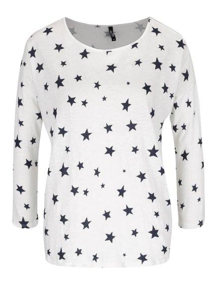 Krémové tričko s potiskem hvězd a 3/4 rukávy Haily´s Hilly