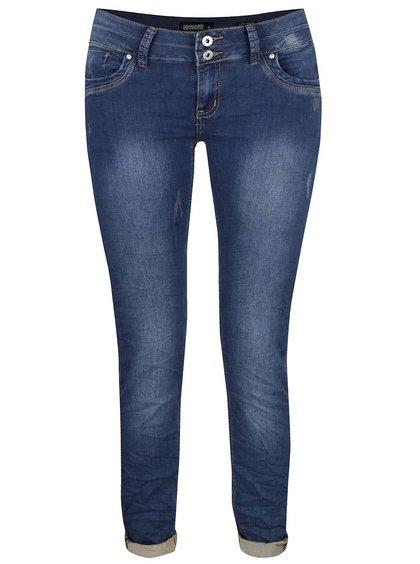 Tmavě modré džíny s opraným efektem Haily´s Clara