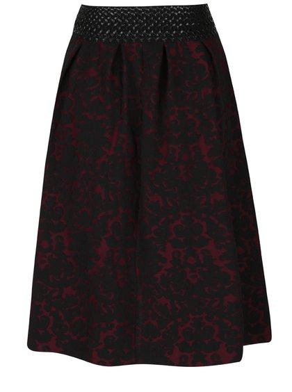 Čierno-vínová vzorovaná sukňa Alchymi