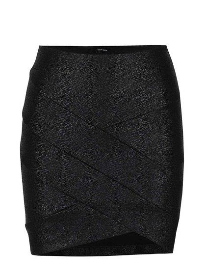 Černá elastická mini sukně s odlesky TALLY WEiJL