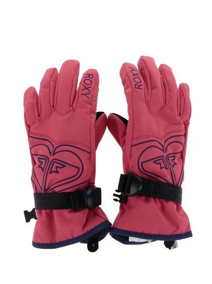 Růžové holčičí zimní rukavice Roxy Popi
