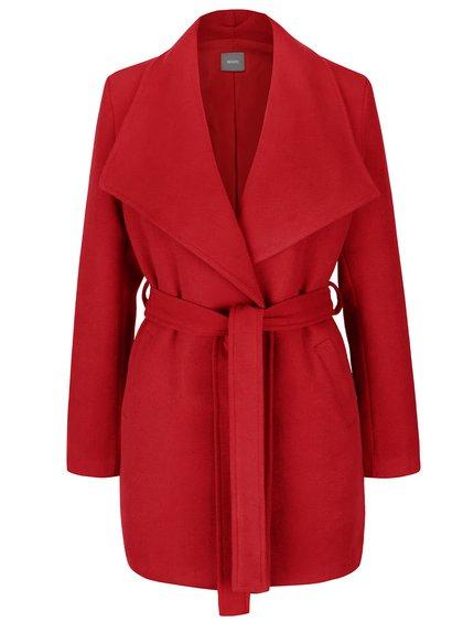 Červený kabát se zavazováním v pase ZOOT