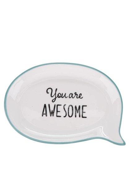 Krémová keramická miska na šperky Sass & Belle You Are Awesome