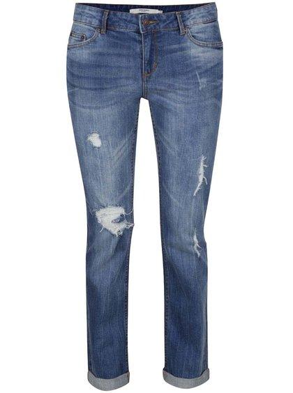 Jeanși albaștri cu aspect uzat VERO MODA Ten