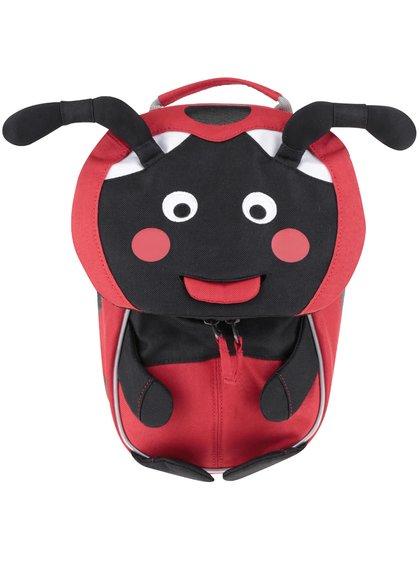 Černo-červený batůžek ve tvaru berušky Affenzahn
