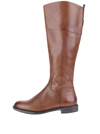 Hnedé dámske kožené vysoké čižmy Vagabond Amina