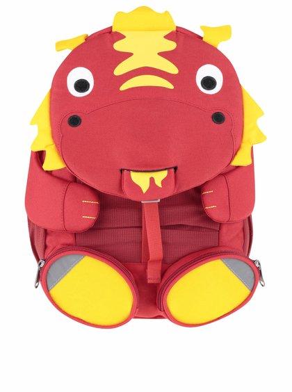 Červený batůžek ve tvaru dráčka Affenzahn