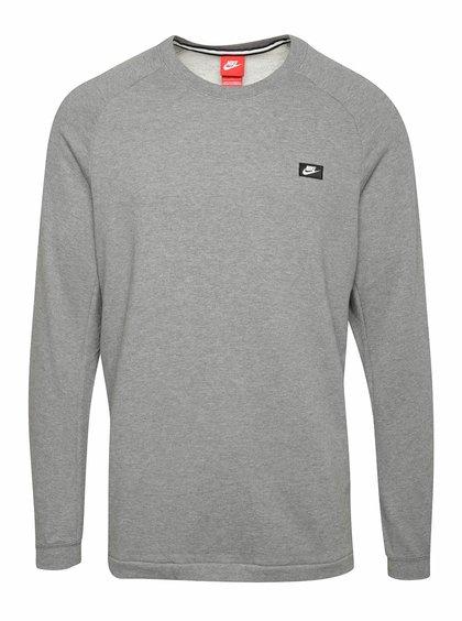 Bluză sport gri melang cu logo pentru barbati  Nike Modern