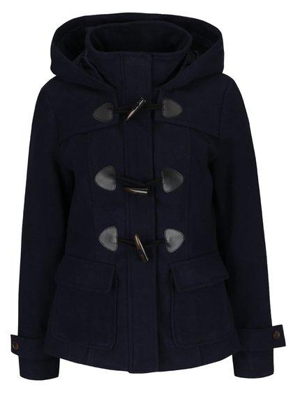 Tmavě modrý krátký kabát s kapucí VERO MODA Mella