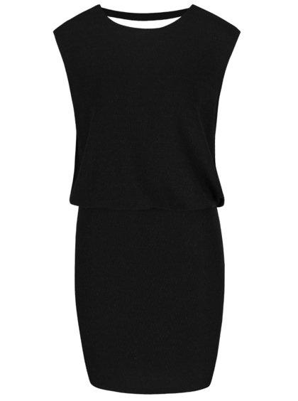 Černé šaty s výstřihem na zádech Vero Moda Dalyn