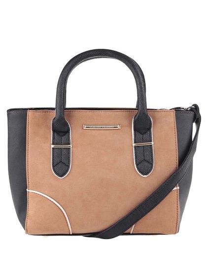 Černo-hnědá kabelka s odnímatelným popruhem Dorothy Perkins