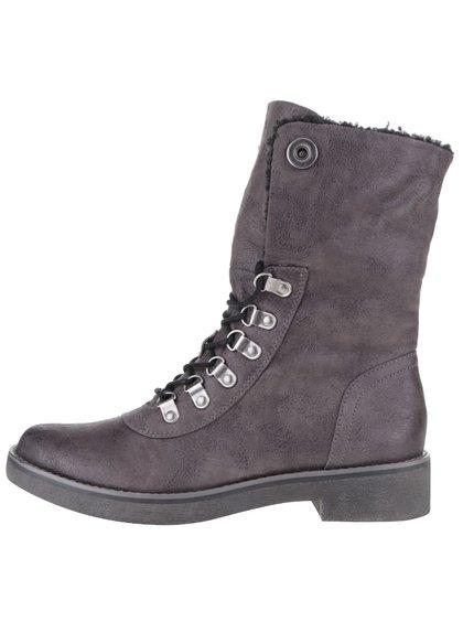 Tmavě šedé kotníkové boty s.Oliver