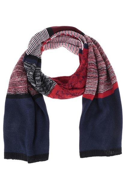 Červená pletená šála s pruhovaným vzorem Dorothy Perkins