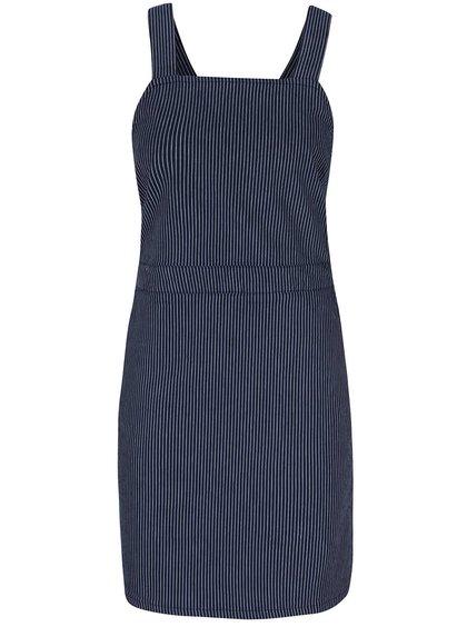 Tmavě modré pruhované šaty s laclem Dorothy Perkins