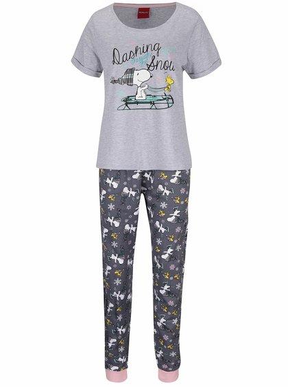 Šedé pyžamo s potiskem Snoopyho Dorothy Perkins