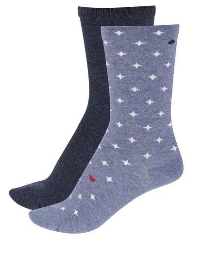 Sada dvou párů dámských ponožek v modré barvě Tommy Hilfiger