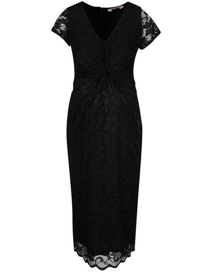 Černé těhotenské krajkové šaty Dorothy Perkins Maternity